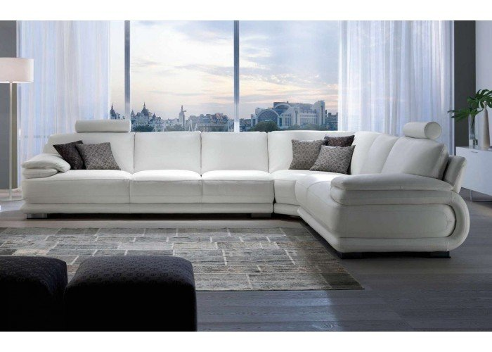 Divani E Divani O Chateau D Ax.Chateau Dax Atlantic Leather Sectional