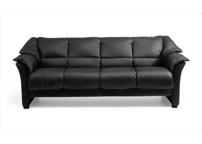 Ekornes Oslo Wood Trim Leather Sofa Set
