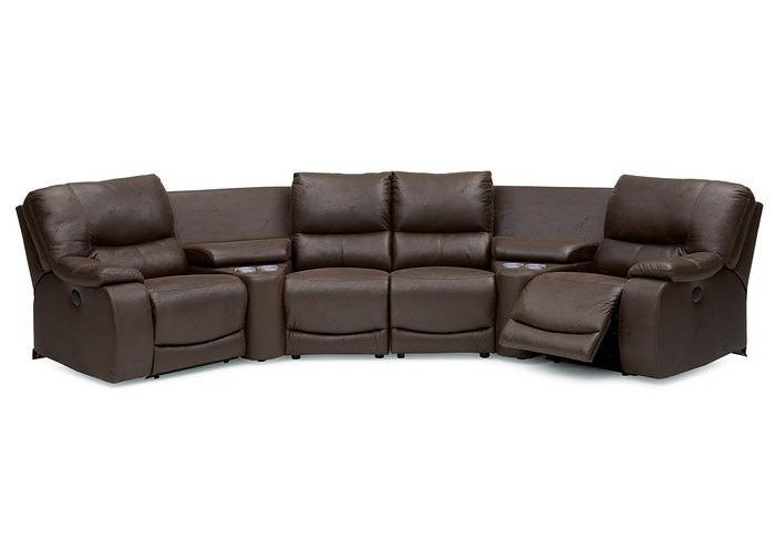 Conlin Leather Reclining Sectional