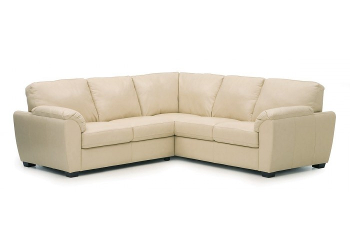Palliser lanza leather sectional for Palliser sectional leather sofa
