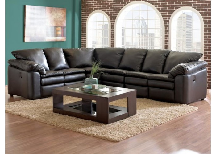 Classic Leather Reclining Sectional