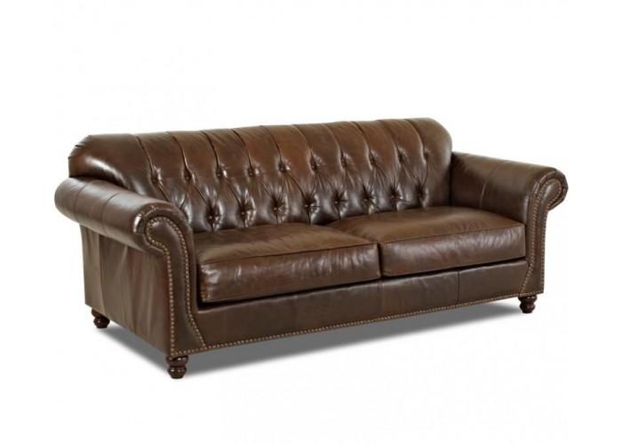 Livermore Tufted Leather Sofa Amp Set