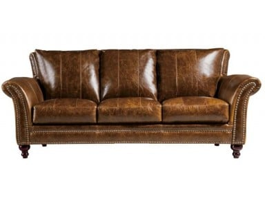 CABRIOLET TRADITIONAL LEATHER SOFA & SET