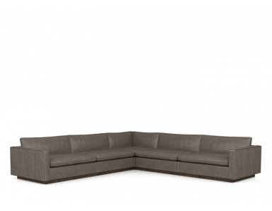 Wallace Leather Sectional