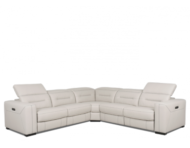 Eckley Power Reclining Sectional With Power Adjustable Headrest