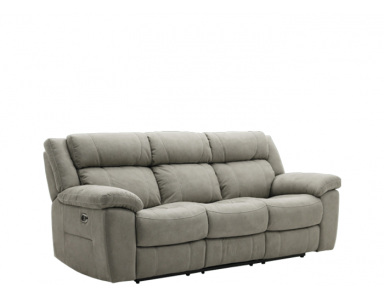Evans Power Reclining Leather Sofa or Set With Power Tilt Headrest