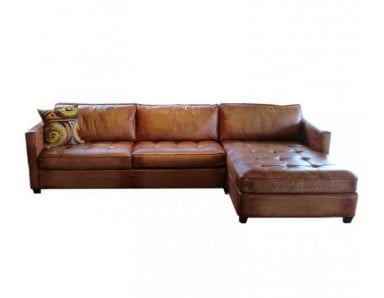 Wilmington Leather Sectional & Sofa Set