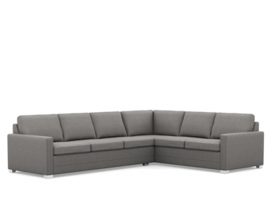 Geneva Leather Sectional Low Leg