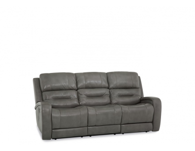 Adams Power Reclining Leather Sofa or Set - Available With Power Tilt Headrest | Power Lumbar