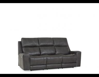 Tifton Power Reclining Leather Sofa or Set - Available With Power Tilt Headrest | Power Lumbar