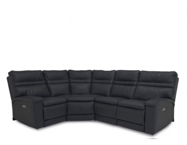 Toledo Power Reclining Leather Sectional - Available With Power Tilt Headrest | Power Lumbar