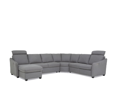 Vicenza Leather Power Reclining Sectional