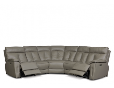 Costa Leather Power Reclining Sectional - Adjustable Power Headrest