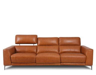 Lockett Power Reclining Leather Sofa With Power Adjustable Headrest