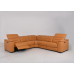 Camellia Leather Power Reclining Sectional With Power Adjustable Headrest