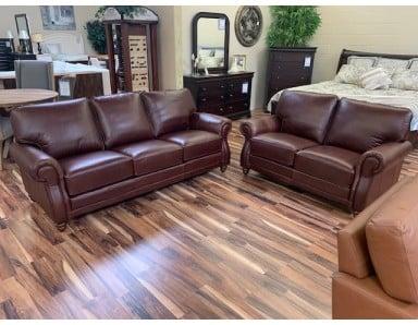 New Campania Leather Sofa and Loveseat Take 50% Off