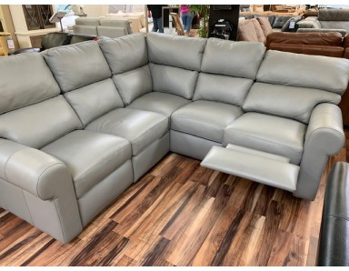 New Bar Harbor Power Reclining Sectional With Power Lumbar Take 50% Off