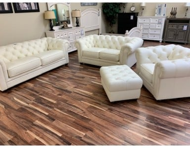 Brand New Lecce Sofa Loveseat Chair and Ottoman Take 50% Off