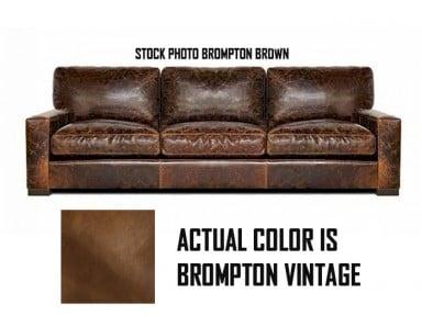 New Floor Model Napa 90 in Sofa Brompton Vintage Take 50% Off