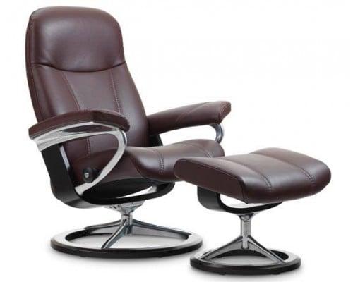 (Large) Stressless Chair U0026 Ottoman (Signature Base)