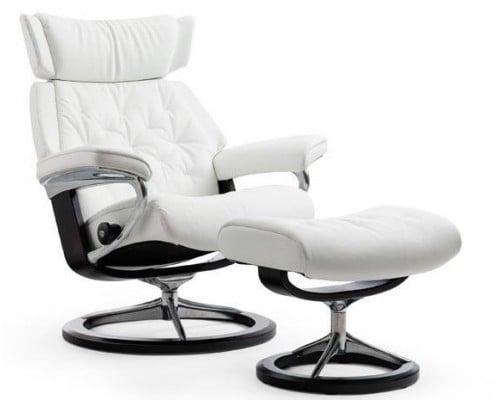 large stressless chair u0026 ottoman signature base