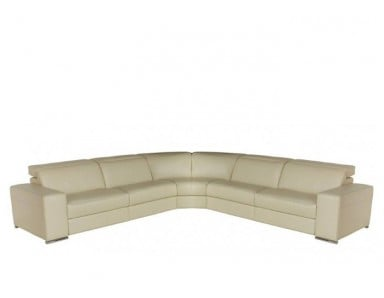 Tortino Leather Power Reclining Sectional | Power Headrest