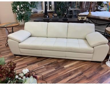New Floor Model Boca Leather Sofa Take 50% Off