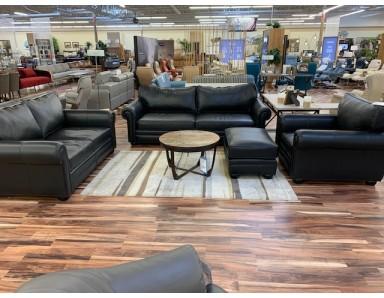 New Floor Model Sedona 96 Inch Sofa Loveseat Chair & Ottoman Take 50% Off