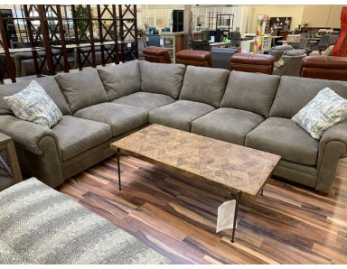 New Floor Model Sedona Sectional in Grade F Everest Siberian Take 50% Off