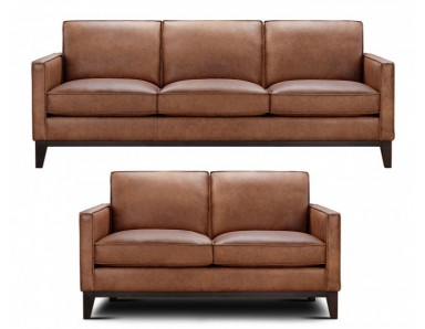 Brand New Lima Leather Sofa Loveseat Take 50% Off