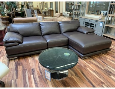 Brand New CHATEAU DAX Atlantic Leather Sectional Take 50% Off