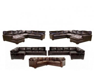 Napa (Maxwell) Oversized Seating Leather Sectional