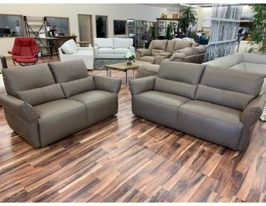 Brand New CHATEAU DAX Emma Leather Sofa & Loveseat Take 50% Off