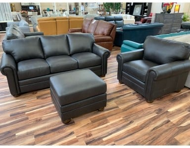 Brand New Apex Sofa Chair & Ottoman Take 50% Off