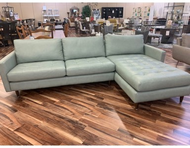 Brand New Omnia Essence Leather Sectional Take 50% Off