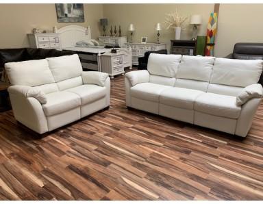 New Floor Model Natuzzi Editions B693 Power Reclining Sofa & Power Rec Loveseat Take 50% Off