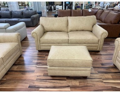 New Floor Model Sedona 84 Inch Sofa Loveseat Chair & Ottoman Take 50% Off  (Small Scuff On Arm)