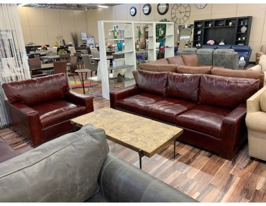 New Floor Model Napa 90 inch Sofa And Chair Take 50% Off