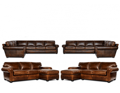 Sedona Oversized Seating Leather Sectional