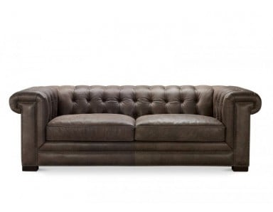 Santiago Leather Tufted Sofa & Chair