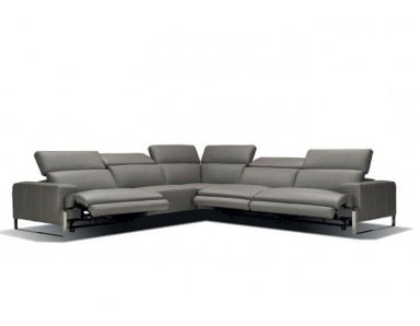 Incanto I768 Leather Power Reclining Sectional With Adjustable Power Headrest