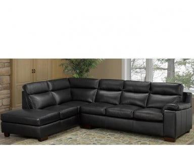 Monroe Leather Sectional
