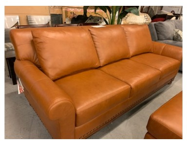Brand New Echo Park Leather Sofa Take 40% Off