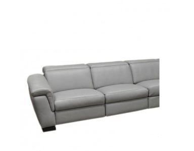 Fonzie Power Reclining Leather Sofa or Set with Power Adjustable Headrest