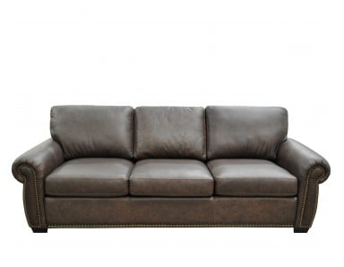 Milt Stationary Leather Sofa or Set (Largest)