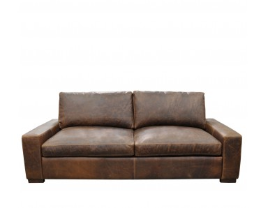 New River Oversized Leather Sectional