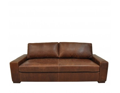 New River Oversized Leather Sectional (Bench Seating)