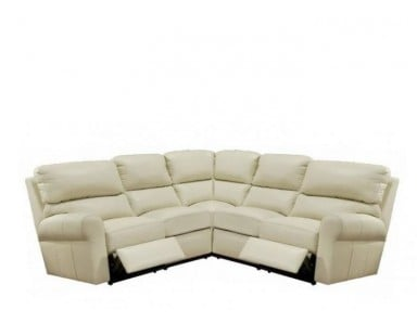 Bar Harbor Leather Reclining Sectional