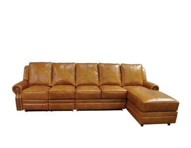 Charlotte Reclining Leather Sectional