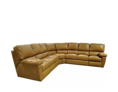 Chilli Leather Reclining Sectional